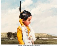 Artwork by Ray Swanson, Dakota Sioux, Made of oil on canvas  kp