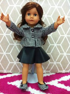 American Girl Doll Alabama Houndstooth by SouthernDollBoutique