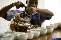 Coffee cupping in Rwanda. ©Copyright Gary S. Chapman 2011