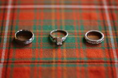 Love this tartan ring shot! Intimate, Destination Wedding In A Scottish Castle - photo by Lisa Dawn Photography