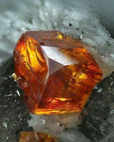 Gem quality Sphalerite from Halsbrücke, Germany.  Photo Credit: Lászlo Tóth