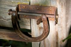 Great use of a Horse Shoe. This is were they should be instead of on the hoof of a horse.