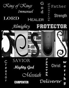 Items similar to JESUS Alphabet Photography Letter Art - (various sizes) on Etsy Alphabet Photography, Photo Letters, Subway Art, Healer, Savior, Christ, Typography, Lord, Quotes