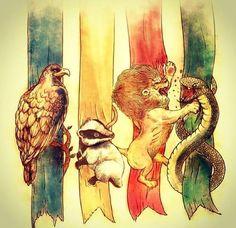 Le 4 case di Hogwarts