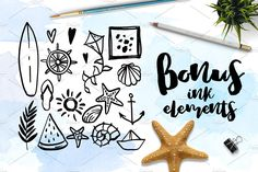 Dreams about sea - lettering set by beauty drops on @creativemarket