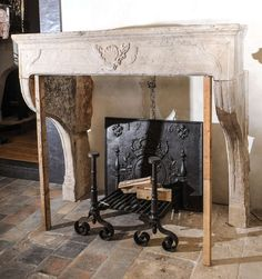View this item and discover similar for sale at - An Century French Baroque limestone fireplace / mantel piece Folk Victorian, Victorian Farmhouse, Limestone Fireplace, Fireplace Mantels, Modern Fireplaces, Baroque Fashion, 18th Century, Entryway Tables, French