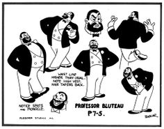 profesor Bluteau, Popeye, Studio Fleisher