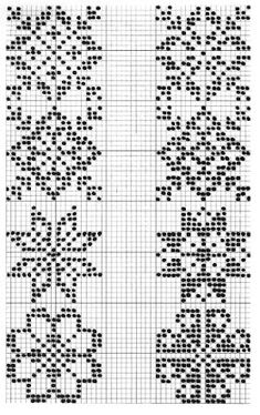"Photo from album ""Жаккард"" on Yandex. Cross Stitch Borders, Cross Stitch Designs, Cross Stitching, Cross Stitch Embroidery, Embroidery Patterns, Cross Stitch Patterns, Fair Isle Knitting Patterns, Knitting Charts, Knitting Stitches"
