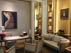 VIP room at Cartier Rodeo Drive.