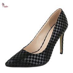 Noir Sandales Design Schwarz Ital Femme Pour Chaussures 39 qwSB1Zz