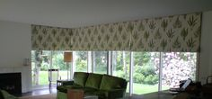 Roman blinds - Green Floral - by Candlewick Interiors