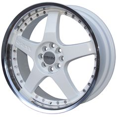 LENSO RS5 WHITE  MIRROR LIP alloy wheels with stunning look for 4 studd wheels in WHITE  MIRROR LIP finish with 18 inch rim size