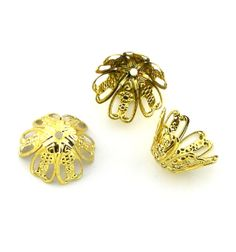 8pcs Large Antique Oxidized Gold Plated by FancyGemsandFindings, $4.99