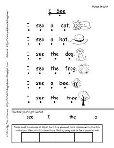 "Emergent Student Reader-""I See"""