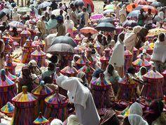 Basket Market in Axum, Ethiopia