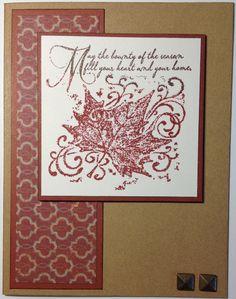 card by Laura Ryan using CTMH Huntington paper