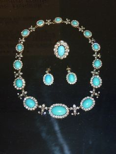 Turquoise and Diamonds - Duchess of Devonshire