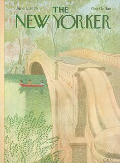 ''Rowboat Central Park'', The New Yorker cover , June 1979 by Charles E. The New Yorker, New Yorker Covers, Room Posters, Poster Wall, Poster Prints, Photo Wall Collage, Picture Wall, Capas New Yorker, Jolie Photo