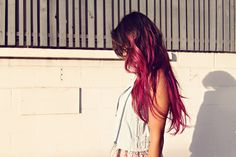 bright pink hair #dip #dye #ombre