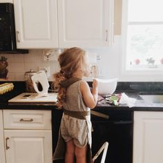 alwasy in the kitchen...since young