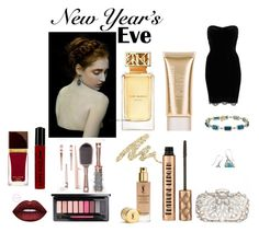 """""""New Year Eve"""" by whitecastlenine on Polyvore featuring beauty, Tom Ford, NYX, MAC Cosmetics, Tory Burch, Urban Decay, Jane Iredale, Natasha Couture and River Island"""