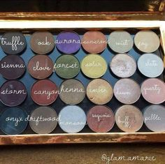A great visual of the new Arbonne eyeshadow colours. Get them here! Http://KrystalFrench.arbonne.com