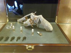 Tagged with Awesome; Diamond encrusted bullets and revolver. Weapons Guns, Guns And Ammo, Pistol Annies, Heat Gun, Custom Guns, Cool Guns, Revolver, Girls Best Friend, Firearms