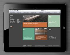 Web site design inspired by MS Metro interface by Evgeny Laskovy, via Behance