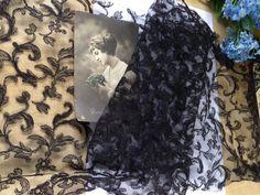 Vintage Gardinen - +❤Selten! Muster/Spitze 1920 Adorf/PlauenTüllsp ❤  - ein Designerstück von mypatchworld bei DaWanda Designer, Tote Bag, Etsy, Fashion, Vintage Lace, Patterns, Dekoration, Moda, Fashion Styles