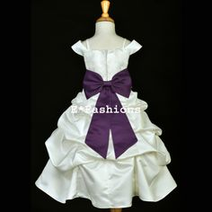 7b57ee1f0d0d $22.99 with 6.95 shipping .. 32 length for size 4 Wedding Flower Girl  Dresses,