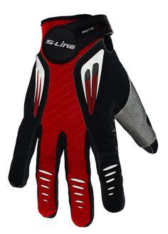 Gants moto cross S-line 099 Noir Rouge Taille L