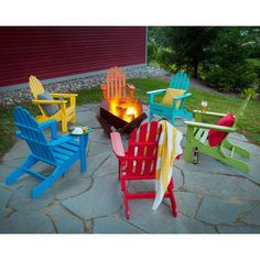 POLYWOOD® Classic Recycled Plastic Foldable Adirondack Chair | From  Hayneedle.com