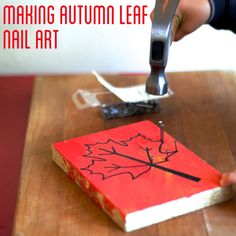 Bust out the hammers, and make some nail art with your little ones! | craftingconnections.net