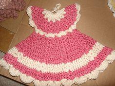 crochet mini dress(pot holder )