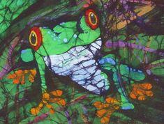 Amphibia    Kay Shaffer.     Batik