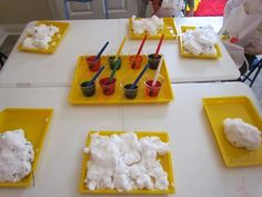 painting snow with liquid watercolors from Teach Preschool blog