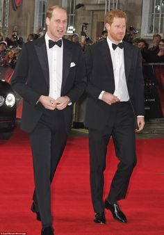 Brothers: The Princes looked excited as they prepared to head inside and see their big scr...