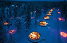 The Hotel Kakslauttanen and Igloo Village in Finland is home to unique thermal glass igloos that offer some of the best views of the Northern Lights. (Courtesy of Hotel Kakslauttanen and Igloo Village) Glass Igloo Northern Lights, Northern Lights Viewing, See The Northern Lights, Northern Lights Hotel, Igloo Village, Village Hotel, West Village, Lappland, Igloo Hotel Finland