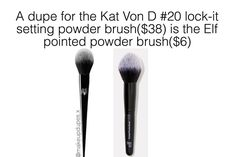 """703 Likes, 7 Comments - makeup dupes  (@makeupdupes.x) on Instagram: """"here's a dupe for the KVD lock it powder brush! these brushes have a tapered, pointed end to…"""""""
