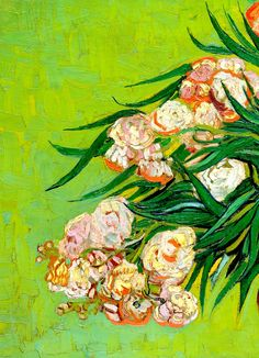 Oleanders (detail), Vincent Van Gogh.