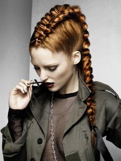 Edgy, dressy faux hawk by the Schwarzkopf Young Artists Team; photographer Jack Eames