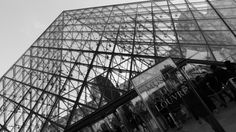 The Pyramid entrance to Musee de Louvre in Paris (Dec 2013) - Photo taken by BradJIll