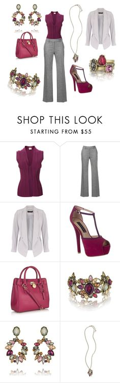 """Work Chic"" by kelloi21 ❤ liked on Polyvore featuring Lanvin, Gardeur, Dorothy Perkins, Steve Madden, MICHAEL Michael Kors and Chloe + Isabel"