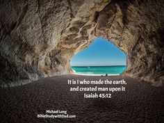 God is the great creator. He made the earth as well as the universe. #biblestudywithdad