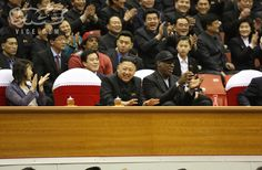 Dennis Rodman and Kim Jong Un. A bromance made in a dictatorship full of starving people.