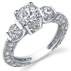 Sterling Silver Wedding Engagement Ring With Cubic Zirconia Cz Size 6