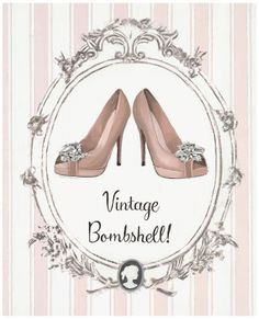 'Flirty Vintage' by Marco Fabiano. Decoupage Vintage, Vintage Diy, Images Vintage, Decoupage Paper, Vintage Labels, Vintage Shoes, Posters Vintage, Vintage Prints, Diy Image