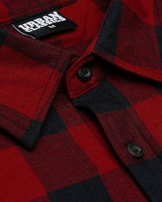 Urban Classics Long Checked Flanell – Skjorte – Bordeaux