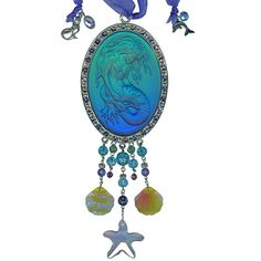 Lorelei Mermaid Sunlight Catcher Ornament  Kirk's Folly   This is beautiful but the picture doesn't do it justice.