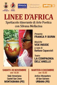 Linee d'Africa  - Spettacolo itinerante di arte poetica con Silvana Mellacina